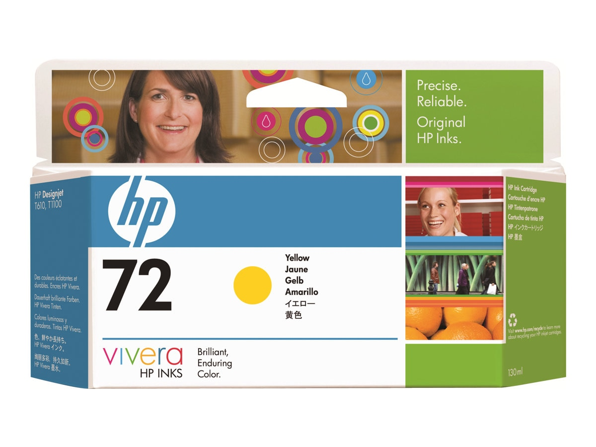 HP 72  Yellow Ink Cartridge (130ml) C9373A