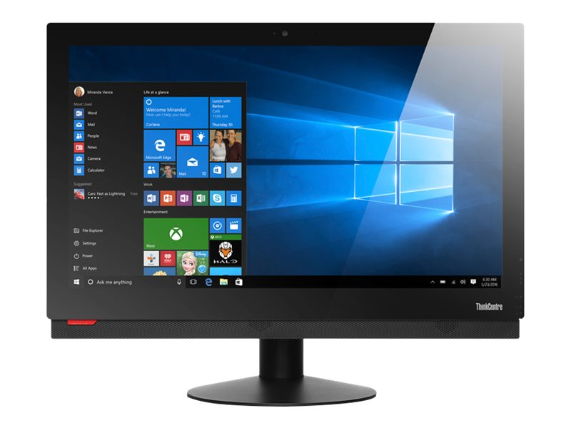 Lenovo TopSeller ThinkCentre M910Z AIO QC i5-6500 3.2GHz 8GB 500GB HD530 DVD+RW ac BT WC 23.8FHD W7P64-W10, 10NS0010US