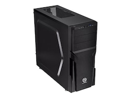 Thermaltake Chasssis Versa H21 Mid Tower ATX Micro ATX 3x3.5 Bays 3x5.25 Bays 7xSlots No PSU, Black, CA-1B2-00M1NN-00, 16976420, Cases - Systems/Servers