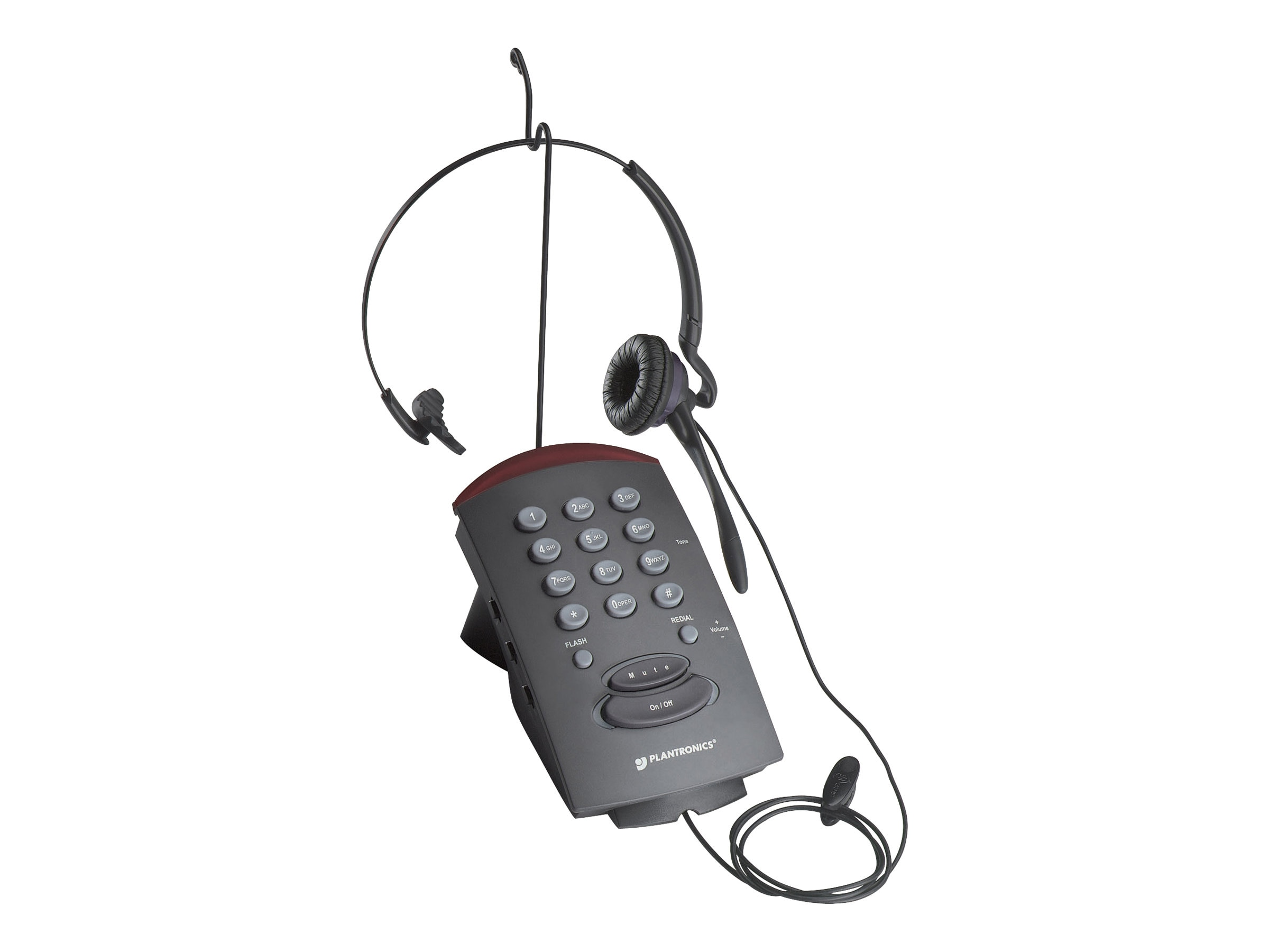 Plantronics Corded Headset Phone, T10, 166498, Phone Accessories