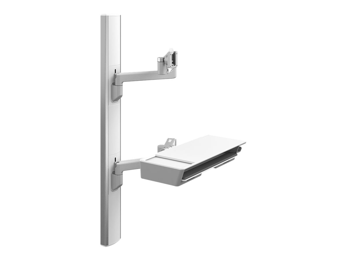 Humanscale V6 Wall Station, 47 Track, (2) 12 Straight 12 Dynamic Link Arms, V647-0808-20000