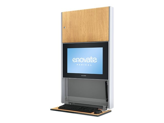 Enovate 550 Lite Wall Station, Honey Maple, E550T4-N4W-00HM-0, 15729005, Computer Carts - Medical