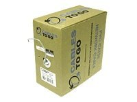 C2G Cat5e 350MHz Solid PVC CMR Cable, White, 1000ft