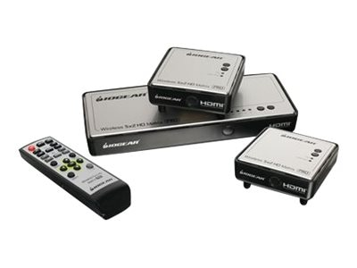 IOGEAR Long Range Wireless 5x2 HDMI Matrix PRO with (1) Additional Receiver, GWHDMS52MBK2, 17831812, Video Extenders & Splitters