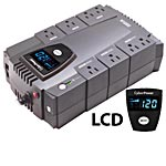 CyberPower 600VA 340W Intelligent LCD UPS, (8) Outlets with PowerPanel Software