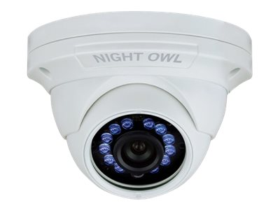 Night Owl 1080p HD Audio Enabled Wired Security Dome Camera, White