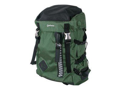 Manhattan ZipPack Heavy Duty Top Load Backpack, Green, 439695, 16818771, Carrying Cases - Notebook