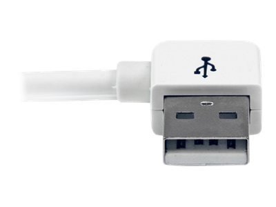 StarTech.com Apple 30-pin Dock Connector to Left Angle USB Cable for iPhone iPod iPad with Stepped Connector, 1m, USB2ADC1MUL