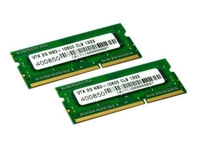 VisionTek 4GB PC3-10600 204-pin DDR3 SDRAM SODIMM Kit, 900452