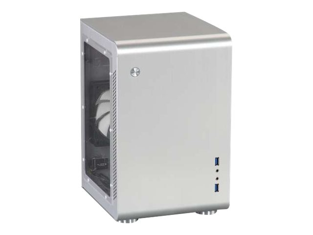 Rosewill Chassis, Legacy U2-B Tower Mini-ITX 2x3.5 Bays 1x2.5 Bay 2xSlots 1xFan Window, Silver, LEGACY U2-S-WINDOW, 16896059, Cases - Systems/Servers