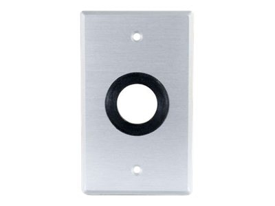C2G > Classic Series Single Gang 1in Grommet Wall Plate, Brushed Aluminum, 40488, 11431527, Premise Wiring Equipment