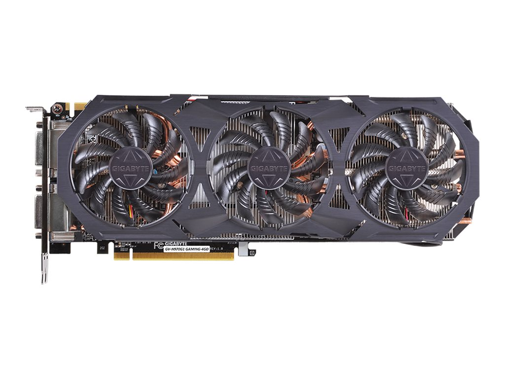 Gigabyte Tech GeForce GTX 970 PCIe 3.0 Super Overclocked Graphics Card, 4GB GDDR5, GV-N970G1 GAMING-4GD, 17849107, Graphics/Video Accelerators