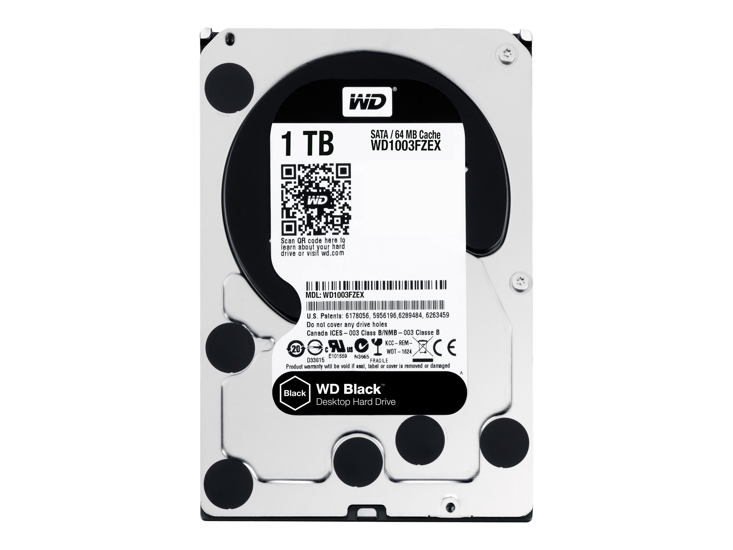 WD 1TB WD Black SATA 6Gb s 3.5 Internal Hard Drive w  Advanced Format, WD1003FZEX