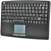 Adesso Slim Touch Mini Keyboard with Built-in Touchpad, Black, USB, AKB-410UB, 7593515, Keyboards & Keypads