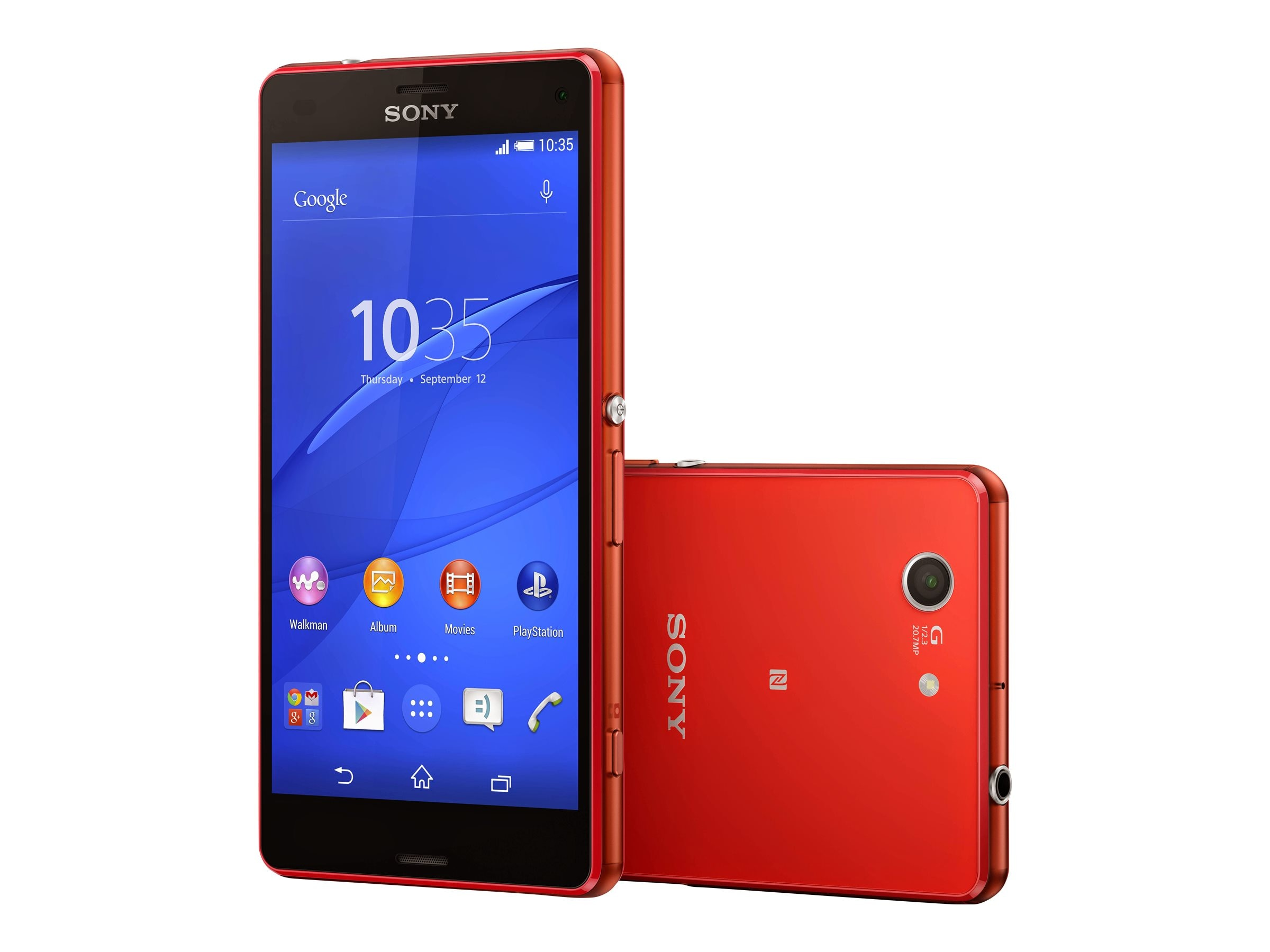 Sony XPeria Z3 Compact LTE D5803 4.6 2.5GHZ 4CR 16GB 20.7MP NFC Phone - Green, 1290-0542
