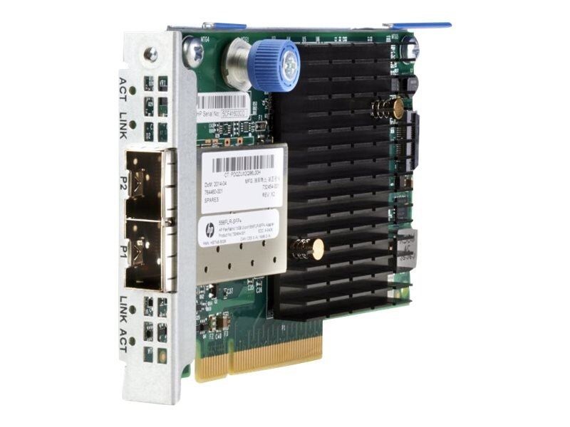 HPE FlexFabric 10Gb 2-Port 556FLR-SFP+ Adapter, 727060-B21, 31258320, Network Adapters & NICs