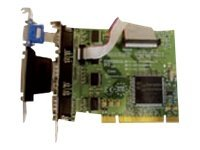 Brainboxes 4xRS232 PCI Serial Port Card (3x9 pin ports + 1x9 pin port) with LPT Parallel Port for Printer