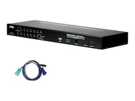 Aten 16-Port IP KVM Switch with 16 USB Cables, CS1716IUKIT, 13080311, KVM Switches