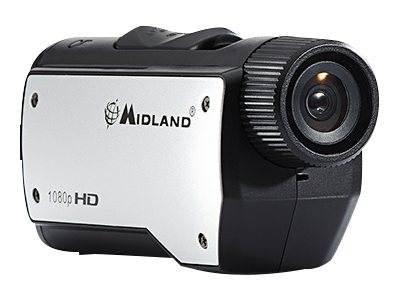 Midland Radio Wearable 1080p Action Camera, Black Silver, XTC280VP, 31196077, Camcorders