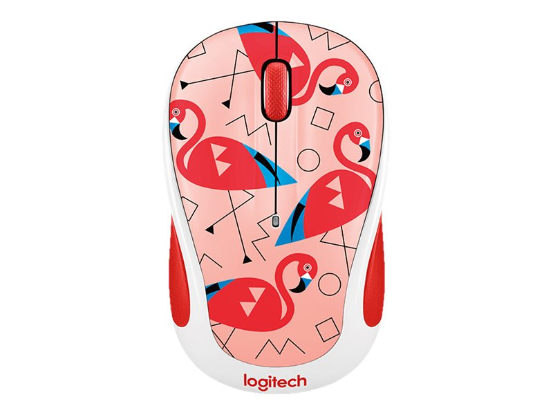Logitech M325c Wireless Optical Mouse, Flamingo