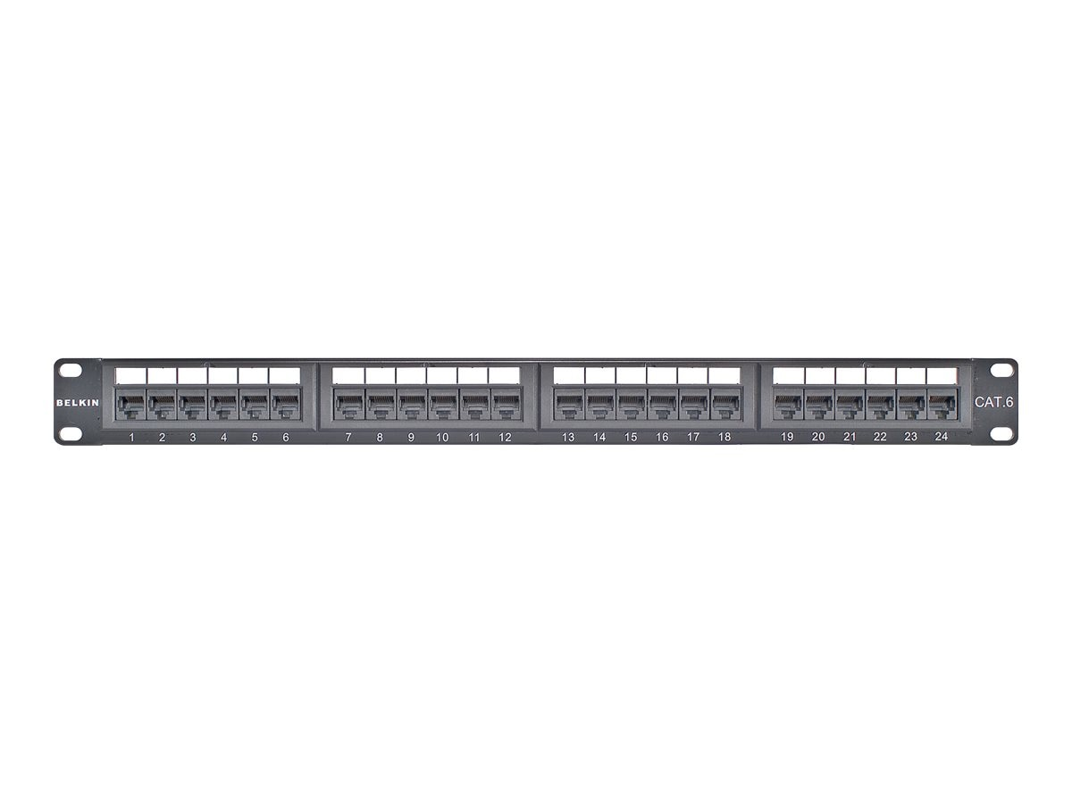 Belkin Cat6 Modular Patch Panel, 568A & B, 24-port, F4P638-24-AB5