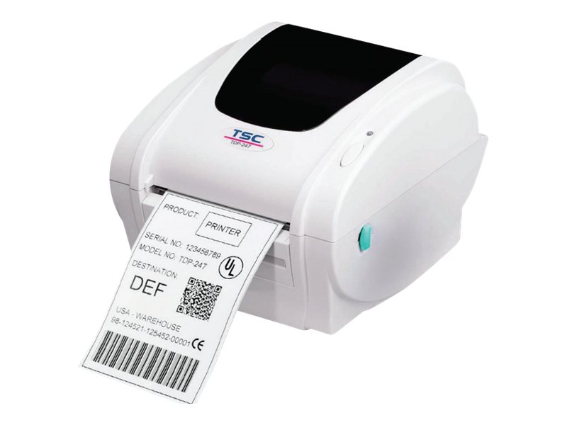 TSC TDP-247 Direct Thermal Monochrome Desktop Label Printer, 99-126A010-00LF