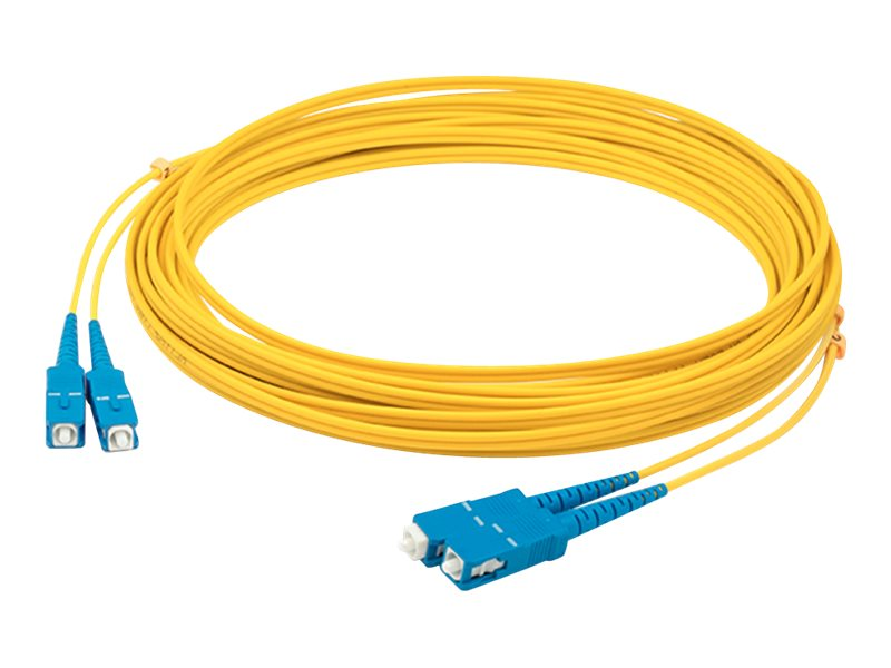 ACP-EP SC-SC OS1 Singlemode Duplex Fiber Patch Cable, Yellow, 25m, ADD-SC-SC-25M9SMF