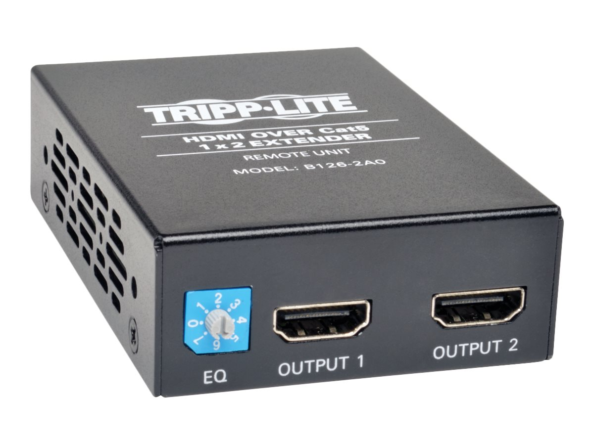Tripp Lite HDMI Over Cat5 Active Extender 2-Port Remote Unit, Instant Rebate - Save $13, B126-2A0