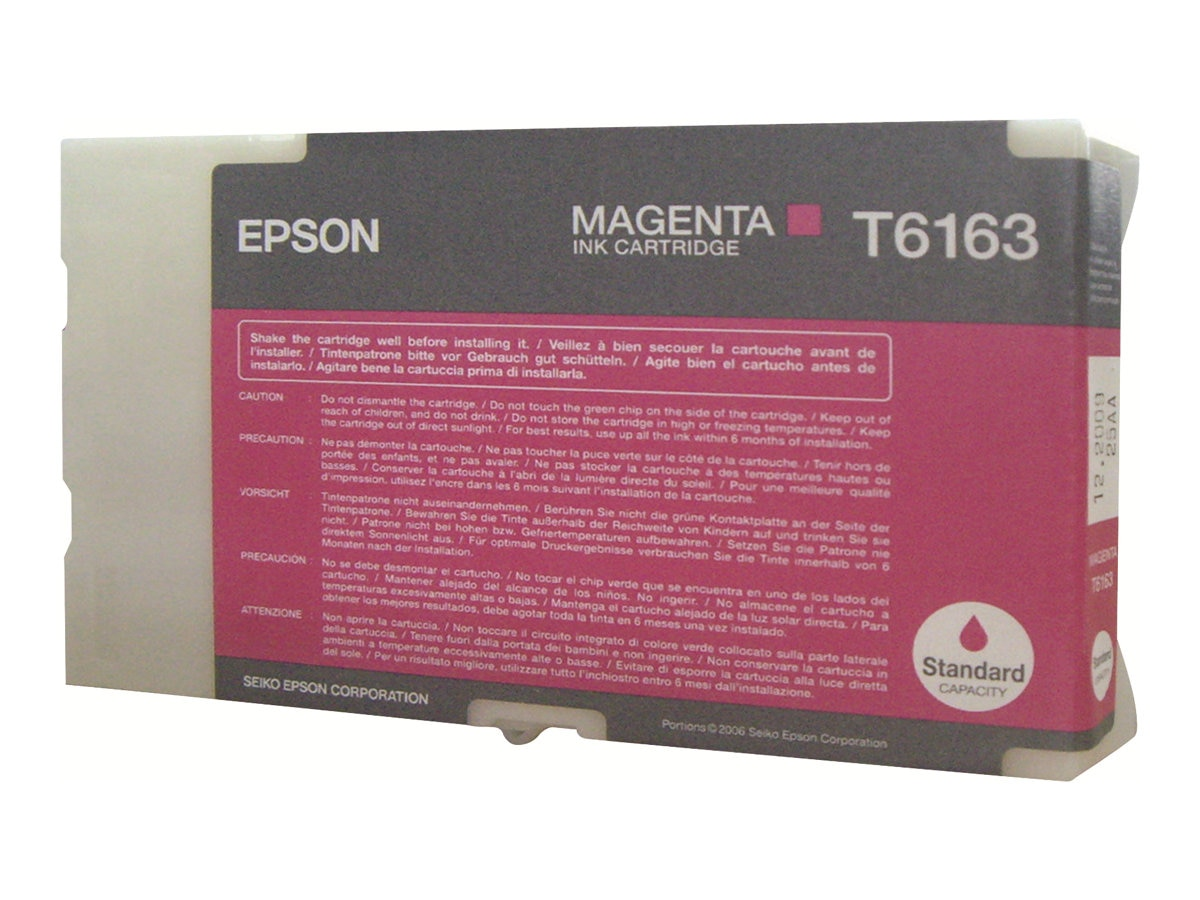 Epson Magenta Ink Cartridge for B-300 & B-500DN Business Color Ink Jet Printer, T616300