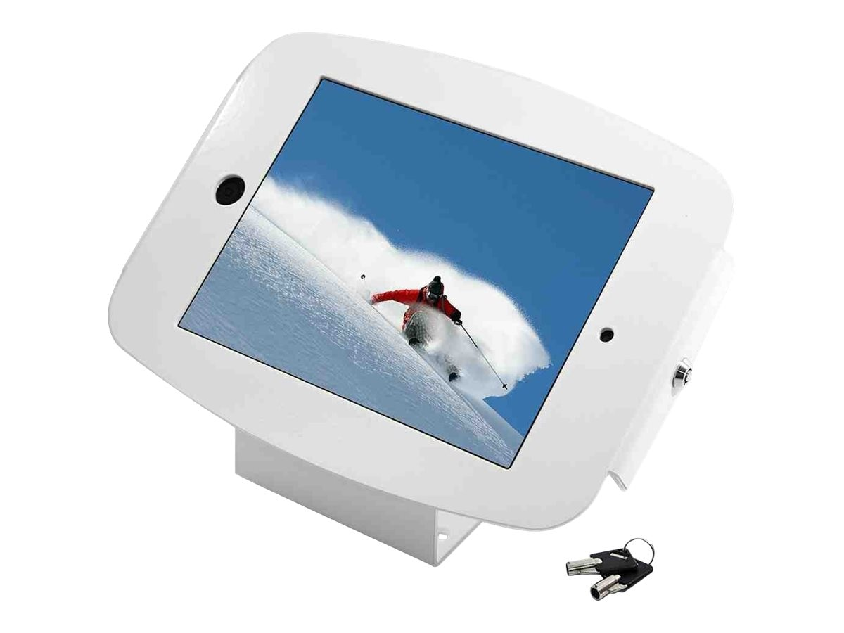 Compulocks iPad mini Enclosure Kiosk, Space Wall or Desk Mount iPad Kiosk , fits iPad 2 3 4 , White, 101W224SENW, 16208375, Security Hardware