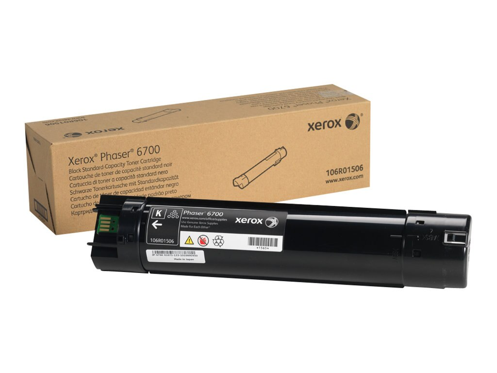 Xerox Black Standard Capacity Toner Cartridge for Phaser 6700 Series Printers, 106R01506