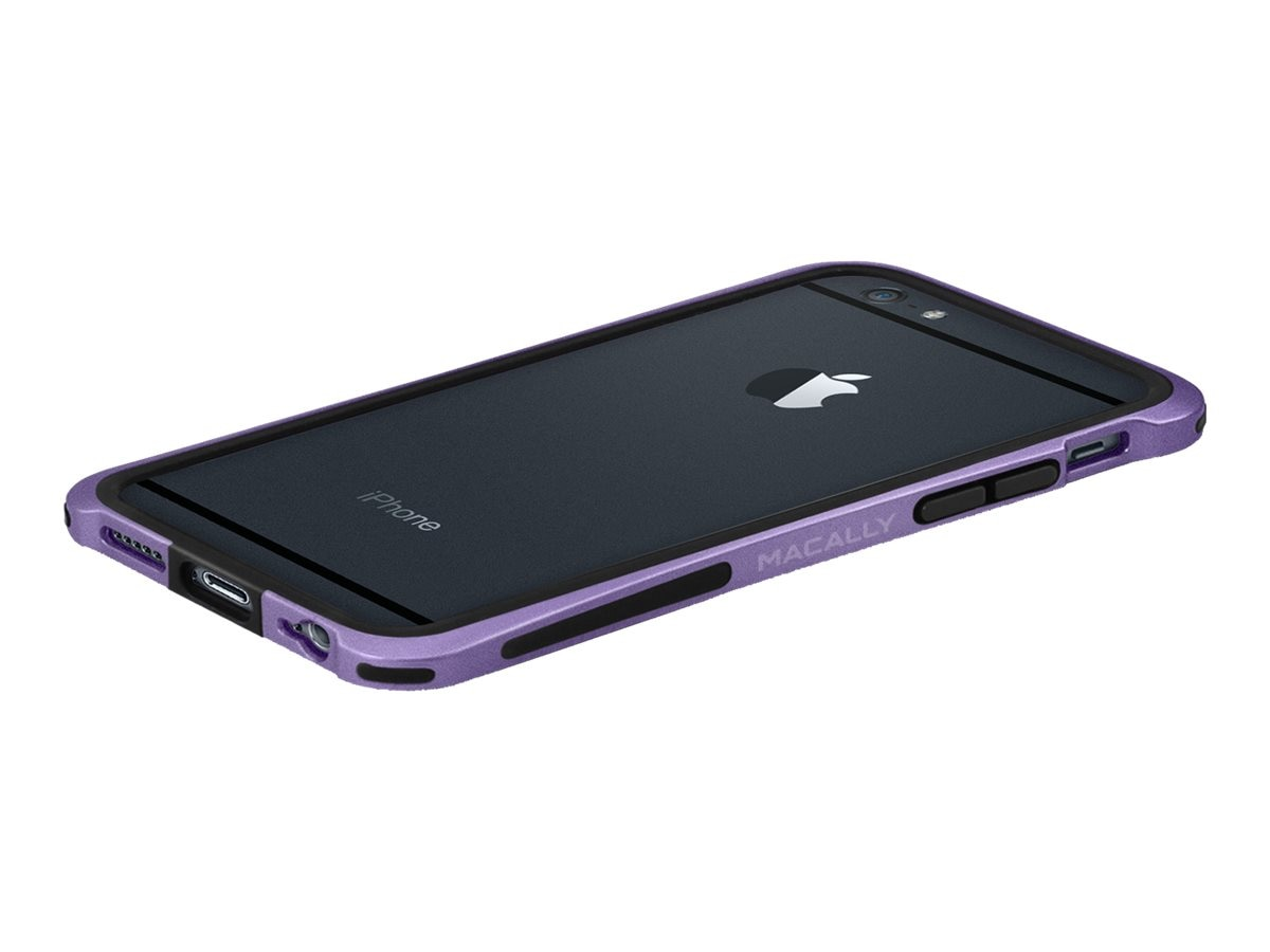 Macally Plastic Polycarbonate Case for iPhone 6, Purple, IRONP6MPU, 31201999, Carrying Cases - Phones/PDAs