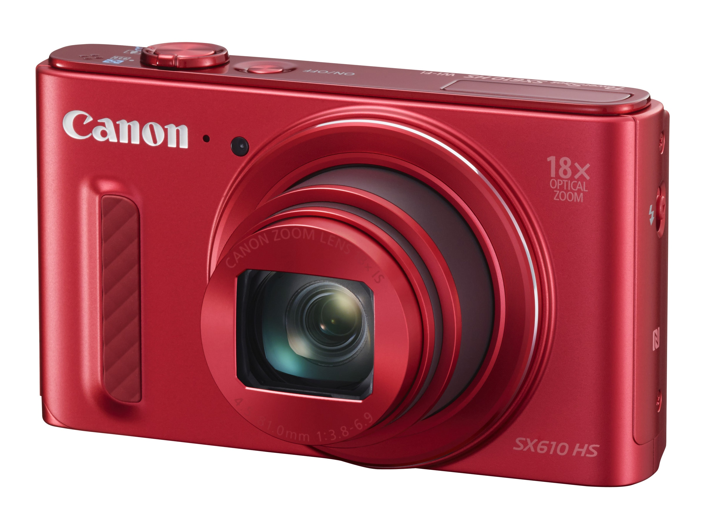 Canon Powershot SX610 HS Camera, 20.2MP, 18x Zoom, Red