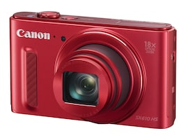 Canon Powershot SX610 HS Camera, 20.2MP, 18x Zoom, Red, 0113C001, 18524241, Cameras - Digital - Point & Shoot