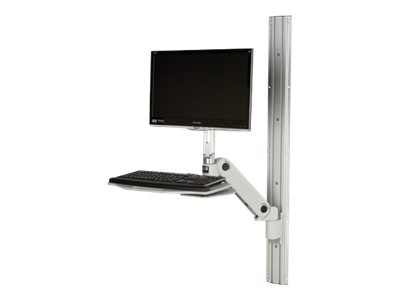 Rubbermaid Standard RMS Fluid LT Arm with Keyboard Tray & 48 Track, 1832514, 14034981, Ergonomic Products