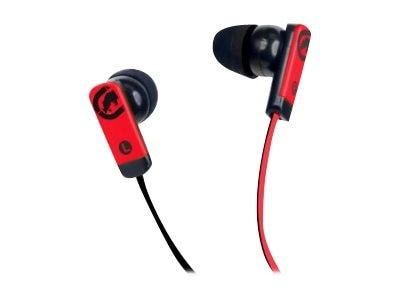 Mizco ECKO Zone Earbud Headphones, Red, EKU-ZNE-RD