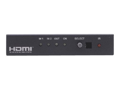 Kramer 2X1 HDMI Switcher w IR, VS-21H-IR, 15323216, Switch Boxes - AV