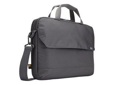 Case Logic 15.6 Laptop and 10.1 Tablet Attaché, Gray, MLA-116GRAY, 13663321, Carrying Cases - Notebook