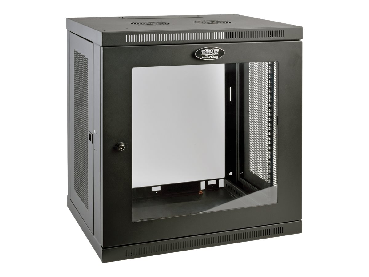 Tripp Lite SmartRack 12U Low-Profile Switch-Depth Wall-Mount Rack Enclosure Cabinet, Instant Rebate - Save $15, SRW12UG, 30620577, Racks & Cabinets