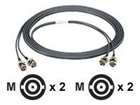 Black Box High-Speed DS-3 Coax Cable, BNC-BNC, Black, 5ft.