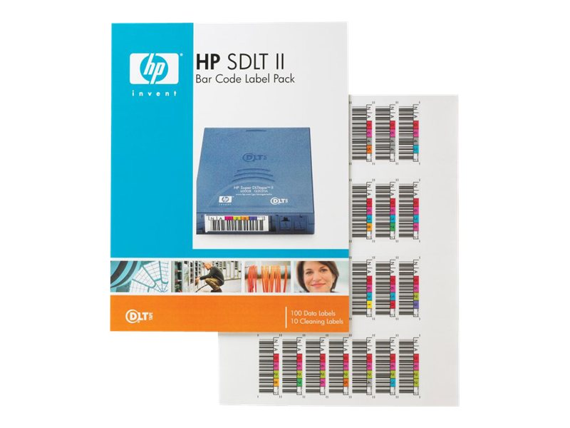 HPE Super DLTtape II Bar Code Labels (100-pack), Q2006A, 6024716, Tape Drive Cartridges & Accessories