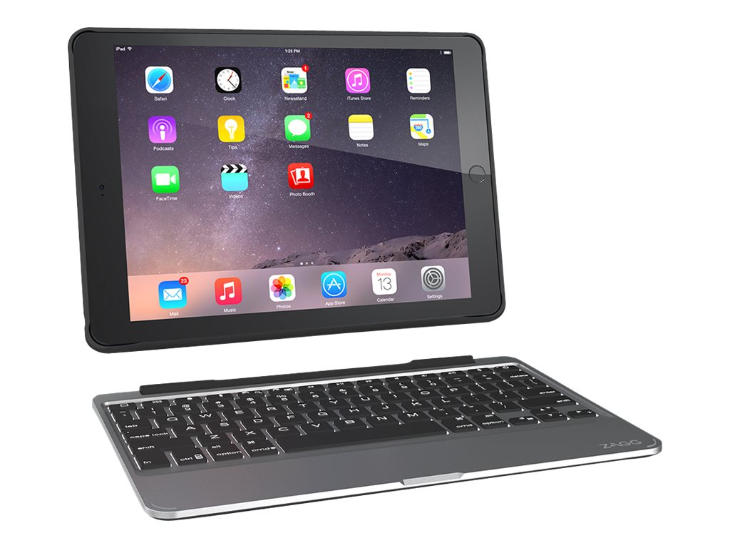Zagg Slim Book Keyboard Case for iPad Air 2, ID6ZF2-BB0