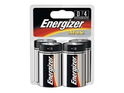 Energizer Battery, MAX D-size (4-pack), E95BP-4, 9554309, Batteries - Other