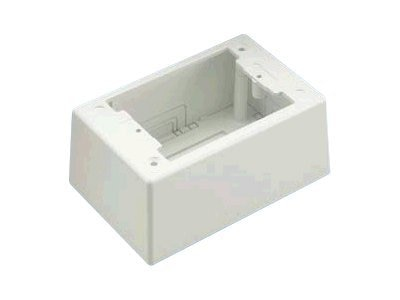 Panduit Single Gang Power Rated 2-piece Deep Outlet Box, JBP1DIW, 10950632, Premise Wiring Equipment
