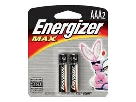 Energizer 1.5 volt AAA Alkaline batteries, 2-pack, E92BP-2, 9554245, Batteries - Other