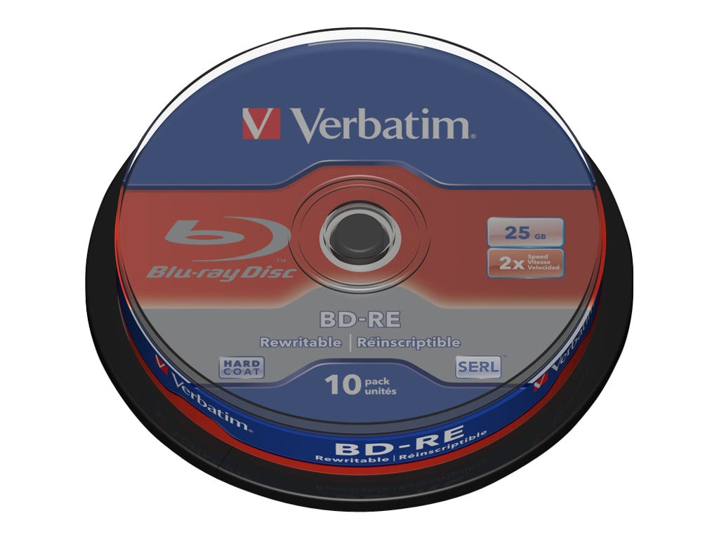 Verbatim 2x 25GB BD-RE Media (10-pack), 43694