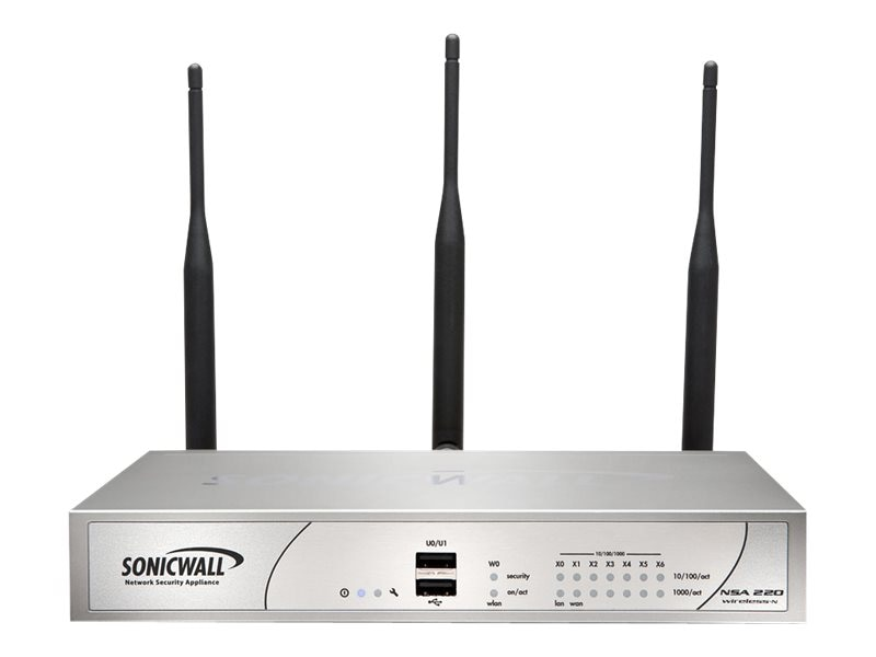 SonicWALL NSA 220 Wireless-N Appliance with 1Yr. TotalSecure, 01-SSC-9745, 13373367, Network Firewall/VPN - Hardware