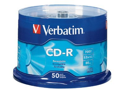 Verbatim 52x 700MB 80min. Branded CD-R Media (50-pack Spindle), 94691