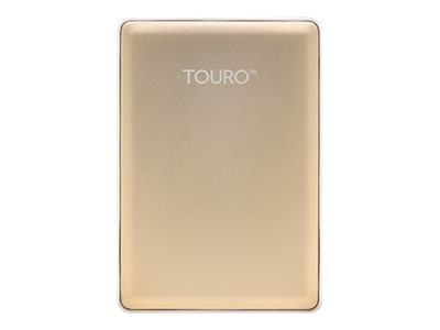 HGST 1TB Touro S USB 3.0 Ultra-Portable Hard Drive - Gold, 0S03753, 19177105, Hard Drives - External