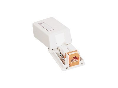 C2G Surface Mount Box for Keystone Jack 1-Port, White, 03831
